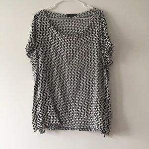 Eloquii Printed Short Sleeve Blouse